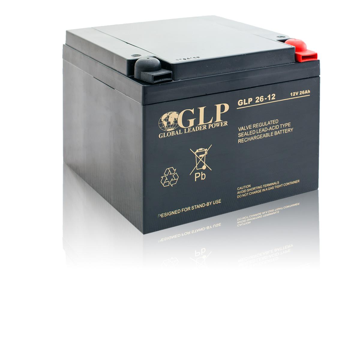 Bezúdržbový olověný záložní akumulátor - baterie VRLA - AGM 26Ah