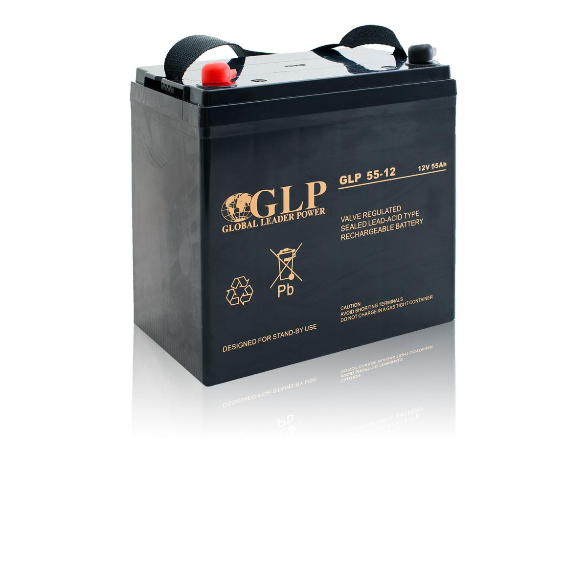 Bezúdržbový olověný záložní akumulátor - baterie VRLA - AGM 55Ah